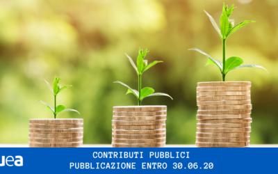 Contributi pubblici: obblighi di trasparenza per associazioni e imprese entro il 30 Giugno di ogni anno