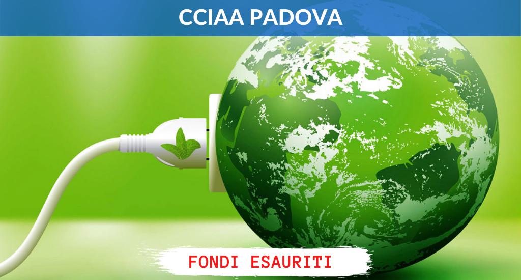 CCIAA Padova – Fino al 30% a sostegno della Green Economy