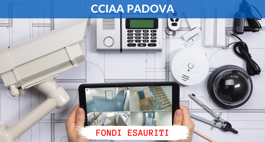 CCIAA Padova – Fino al 50% per sistemi di sicurezza
