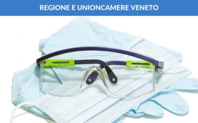 Regione/Unioncamere Veneto. Finanziamento fino 80% per DPI a seguito dell'epidemia Covid-19.