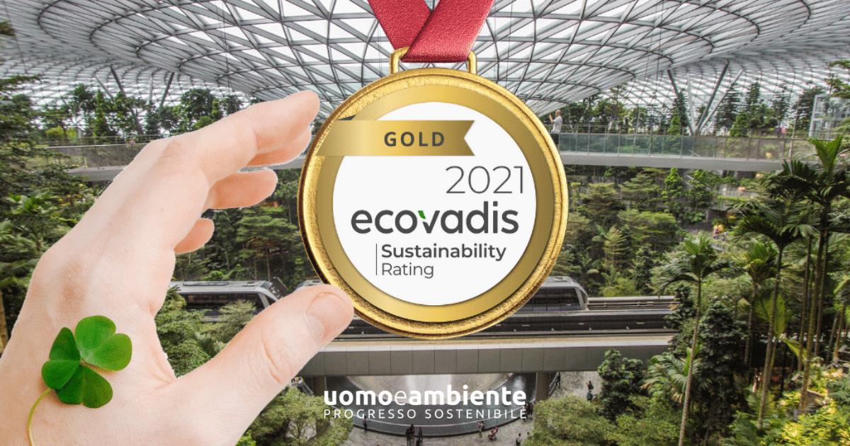 Gold rating Ecovadis per UOMOeAMBIENTE